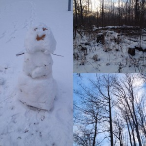 winter yoga walk